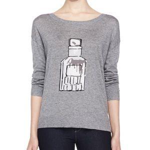 Joie perfume bottle sweater top